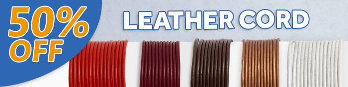 50% Off Leather Cord at JewelrySupply.com