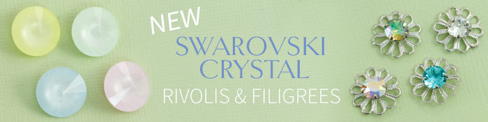New Powder Pastel Rivolis and Crystal Filigrees from Swarovski