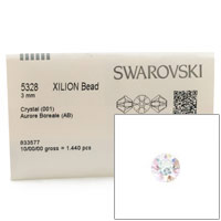 Swarovski 5328 3mm Crystal AB Bicone Bead (Factory Pack of 1,440)