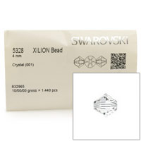 Swarovski 5328 4mm Crystal Bicone Bead (Factory Pack of 1,440)