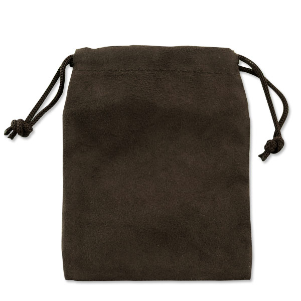 Anti tarnish draw string fabric brown jewelry pouch for Anti tarnish jewelry bags