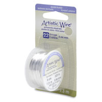 Artistic Jewelry Wire Non Tarnish Silver Plated 24 Gauge