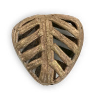 Ghana Brass and Copper Bead 20mm x 22mm (1-Pc)