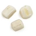 Bone Bead Antique White Barrel 10x8mm (10 Pcs)