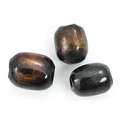 Bone Beads Dyed Tea Brown 8-10mm (10 Pcs)