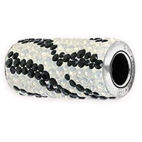 Swarovski BeCharmed Pavé 81982 10mm Zebra Column Bead (1-Pc)