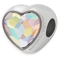 Swarovski BeCharmed 81951 14mm Crystal AB Heart Bead (1-Pc)