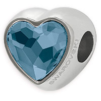 Swarovski BeCharmed 81951 14mm Denim Heart Bead (1-Pc)
