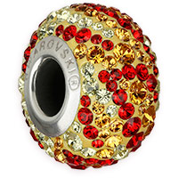Swarovski BeCharmed Pavé 82043 14.5mm Fire Bead (1-Pc)