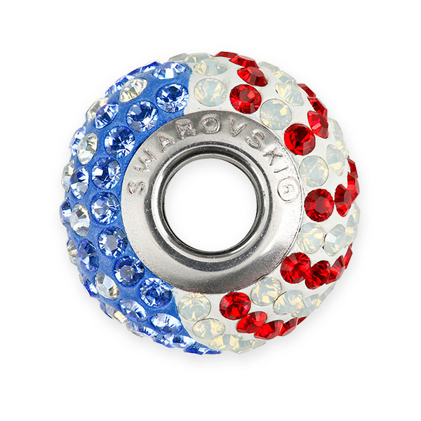 swarovski becharmed pave flag bead 14mm united states