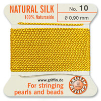 #10 Amber Griffin Silk Bead Cord (2 Meters)