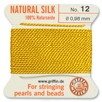 #12 Amber Griffin Silk Bead Cord (2 Meters)