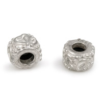 9mm Silver Plated Rondelle Stopper Bead  (1-Pc)