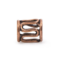 10x8mm Large Hole Copper Snake Bead  (1-Pc)