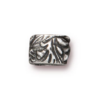 7.8mm Antique Pewter Jardin Barrel Bead (1-Pc)