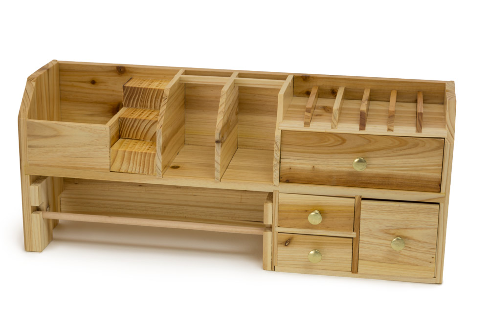 Bench Top Organizer Small Bench Shaped Jewelry Storage