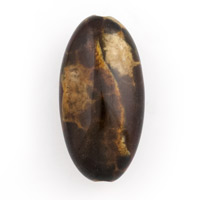 Brown Agate Spotted Oval Bead 29x14mm (1-Pc)