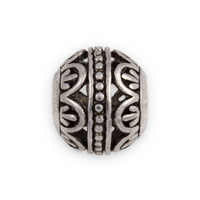 13mm Pewter Bali Style Flower Large Hole Bead (1-Pc)