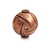 Designer Copper Bead 10x14mm (1-Pc)
