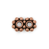 13x8mm Double Daisy Spacer Copper Bead (1-Pc)
