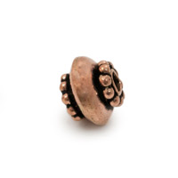 Designer Copper Bead 10x8mm (1-Pc)