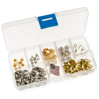 100 Piece Badge Pin Assortment