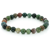Fancy Agate Bead 7-½ Inch Stretch Bracelet (1-Pc)