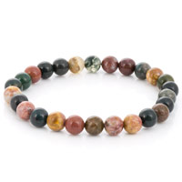 Ocean Jasper Bead 7-½ Inch Stretch Bracelet (1-Pc)