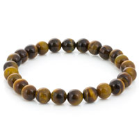 Yellow Tiger Eye Bead 7-½ Inch Stretch Bracelet (1-Pc)