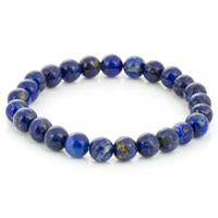 Lapis Bead 7-½ Inch Stretch Bracelet (1-Pc)
