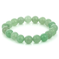 Green Aventurine Bead 7-½ Inch Stretch Bracelet (1-Pc)