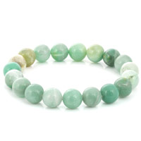 Amazonite Bead 7-½ Inch Stretch Bracelet (1-Pc)
