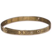 3 ½ Inch Brass Oxide Bangle Bracelet