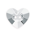Swarovski Heart Button 3023 14mm Crystal with No Foil (1-Pc)
