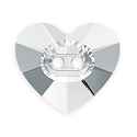 Swarovski Heart Button 3023 16mm Crystal with No Foil (1-Pc)