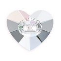 Swarovski Heart Button 3023 12mm Crystal AB (1-Pc)