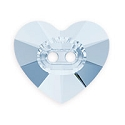 Swarovski Heart Button 3023 16mm Crystal Blue Shade (1-Pc)