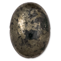 25x18mm Pyrite Oval Cabochon (1-Pc)