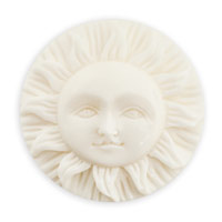 Sun Face Bone Cabochon 25mm