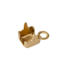Cup Chain End Connector 2mm Gold Plated (2-Pcs)