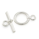 11mm Silver Plated Toggle Clasp (Set)