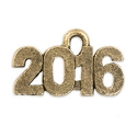 2016 Charm 15mm Pewter Antique Gold Plated (1-Pc)