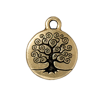 Charm - Tree of Life 16mm Pewter Antique Gold Plated (1-Pc)