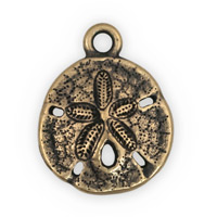 21mm Brass Oxide Pewter Sand Dollar Charm (1-Pc)