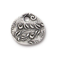 ⅝ Inch Antique Pewter Jardin Charm (1-Pc)