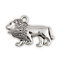 18x28m Antique Silver Plated Pewter Lion Charm (1-Pc)
