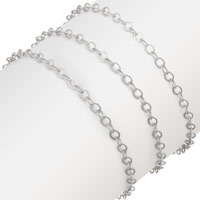 Flat Cable Link Chain 2.8mm Sterling Silver (Priced per Foot)