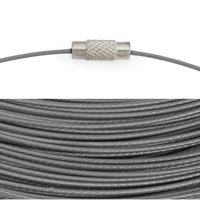 Cable Necklace with Twist Clasp 17½ Inches Steel Grey (1-Pc)