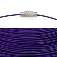 Cable Necklace with Twist Clasp 17½ Dark Purple (1-Pc)