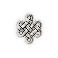 Eternity Knot Pewter Connector 17x15mm (1-Pc)